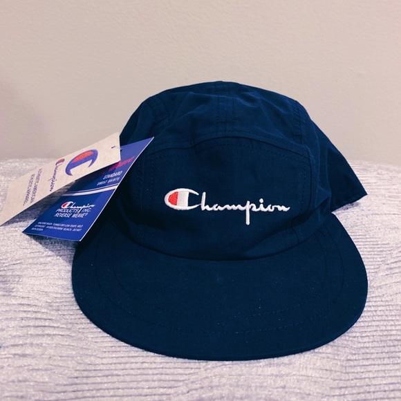 6cb9468c8d614 Champion Reverse Weave Logo 5 Panel Cap - One Size